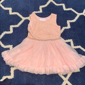 3T Children's Place dress pink and rose gold EUC